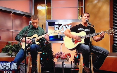 Jeff and Chris play live at the Fox & Friends Studios, NYC.